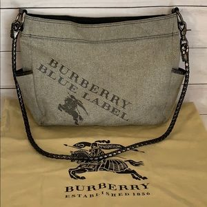 BURBERRY Black Label Shimmery Gray Sling